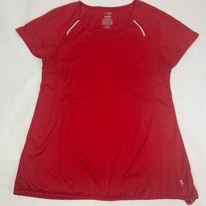 DANSKIN NOW Womans Athletic Sports Top Red Small